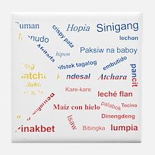 favorite words Tile Coaster