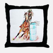 16x20_barrelracer Throw Pillow
