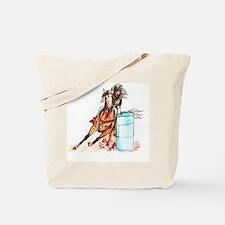 71x72_barrelracer Tote Bag