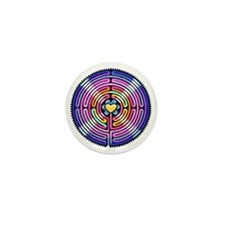 Labyrinth4-with shine1 Mini Button