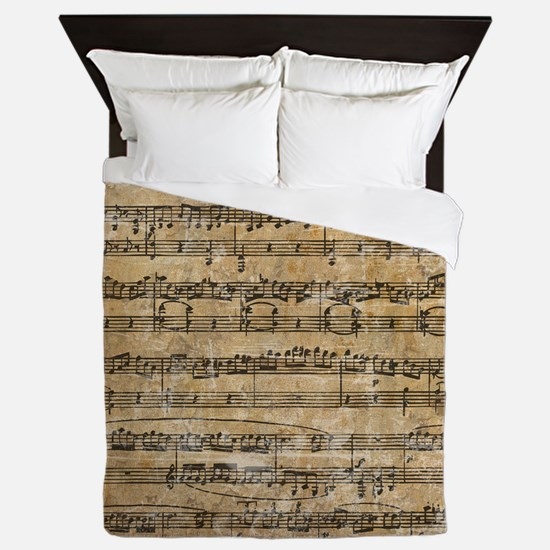 SheetMusic1 Queen Duvet