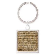 SheetMusic1 Square Keychain