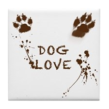 Dog Love Tile Coaster