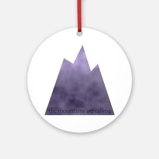 mountainscalling Round Ornament
