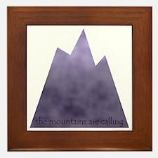 mountainscalling Framed Tile