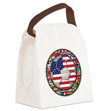 United States Flag World Cup Foot Canvas Lunch Bag