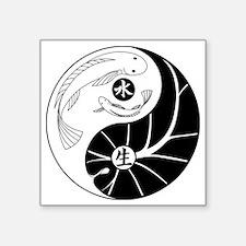 "Aquaponics No Ka Oi Graphic Square Sticker 3"" x 3"""