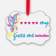 butterflies BLK Ornament