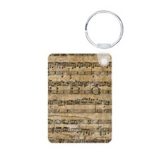 SheetMusic1Itouch Aluminum Photo Keychain