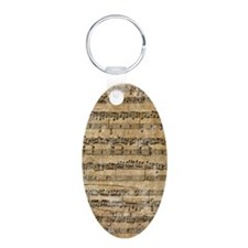 SheetMusic1Itouch Aluminum Oval Keychain