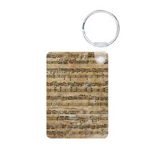 SheetMusic1Phone4 Aluminum Photo Keychain