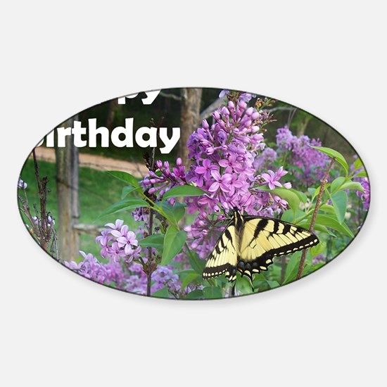 0493-greeting-card-HB-wht Sticker (Oval)