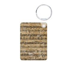 SheetMusic1Itouch2 Aluminum Photo Keychain