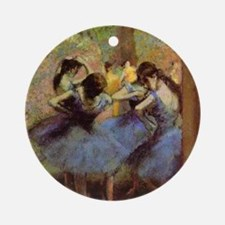 degas-blue-dancers Round Ornament