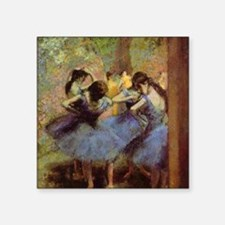 "degas-blue-dancers Square Sticker 3"" x 3"""