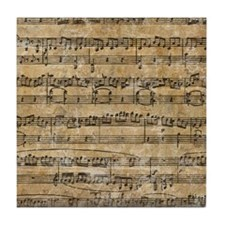 SheetMusic1FF Tile Coaster