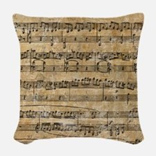 SheetMusic1FF Woven Throw Pillow