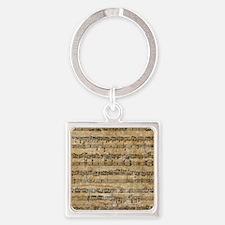 SheetMusic1FF Square Keychain