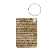 SheetMusic1FF Aluminum Photo Keychain