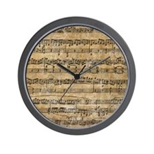 SheetMusic1FF Wall Clock