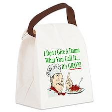 ItsGravy-Dammit-Drk Canvas Lunch Bag