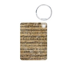 SheetMusic1Kindle Aluminum Photo Keychain