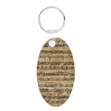 SheetMusic1Kindle Aluminum Oval Keychain