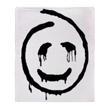 polls_Red_John_Smiley_Face-big Throw Blanket