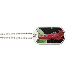 SPACE ROCKET Dog Tags