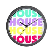 housePastel Wall Clock