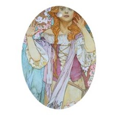 441 Mucha Maude Oval Ornament