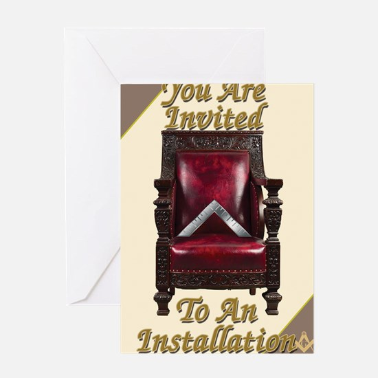 Installing chair copy Greeting Card