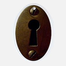 Keyhole Oval Ornament