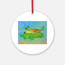 puzzleGrasshopper Round Ornament