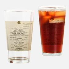 NoteCardMenu2 Drinking Glass