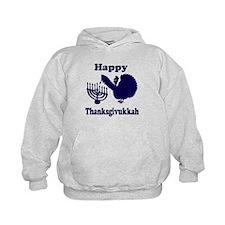 Happy Thanksukkah 3 navy Hoodie