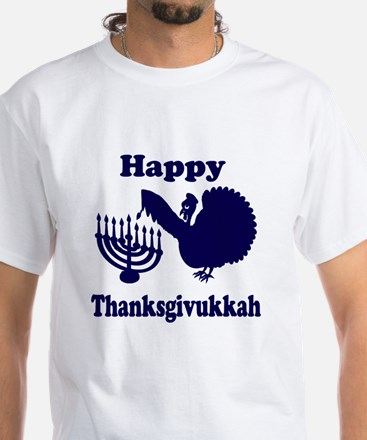 Happy Thanksukkah 3 navy T-Shirt