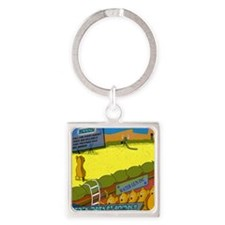 Lemmings Square Keychain