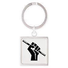 Occupy Magic Fist Square Keychain