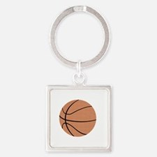 Basketball T-Shirt, Gifts for Dads Square Keychain