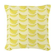 Banana FlipFlops Woven Throw Pillow