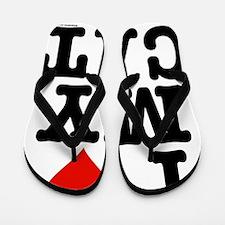 *HeartCatDuvetTwin-a Flip Flops