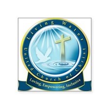 "Living Water UCC Square Sticker 3"" x 3"""