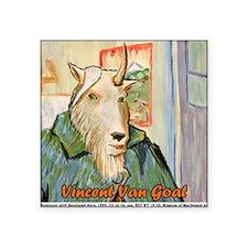 """Vincent van Goat Square Sticker 3"""" x 3"""""""