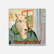 "Vincent van Goat Square Sticker 3"" x 3"""