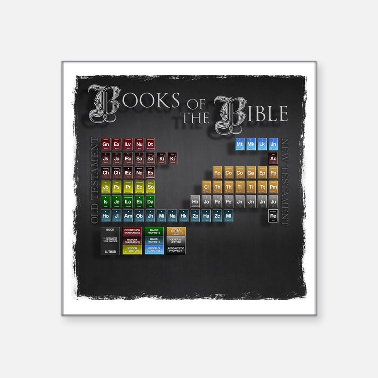 "books of the bible10x10 Square Sticker 3"" x 3"""