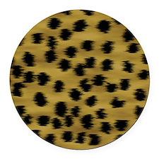 cheetah-brn2-ff Round Car Magnet