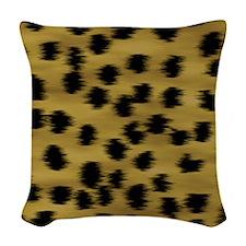 cheetah-brn2-ip Woven Throw Pillow
