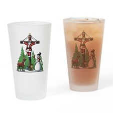 Santa Cross Drinking Glass