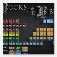 """books of the poster Square Car Magnet 3"""" x 3"""""""